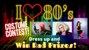 Zoom party, Virtual party, Virtual Costume Contest, 80s party, 80s Costume