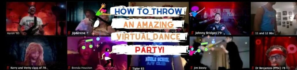 DJ/MC tips on how to throw a virtual dance party on zoom
