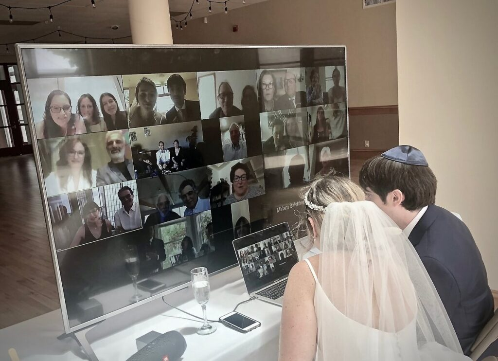 Zoom Micro-Wedding, Micro Wedding in Los Angeles on Zoom, Zoom Ceremony