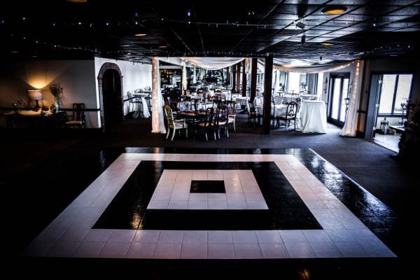 Black & White Dance Floor for Wedding, Custom Dance Floor, Wedding in Los Angeles, Los Angeles Wedding DJ