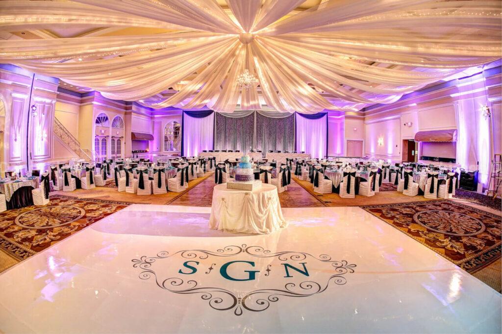 Wedding Reception Los Angeles, Custom Monogram, DJ, Dance Floor, Venue, Layout, Wedding Ideas, Wedding Tips, Wedding Suggestions, Wedding DJ in Los Angeles;