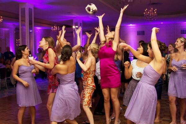 Wedding, Bouquet Toss, Reception, Party, Bridesmaids, Los Angeles Wedding DJ,