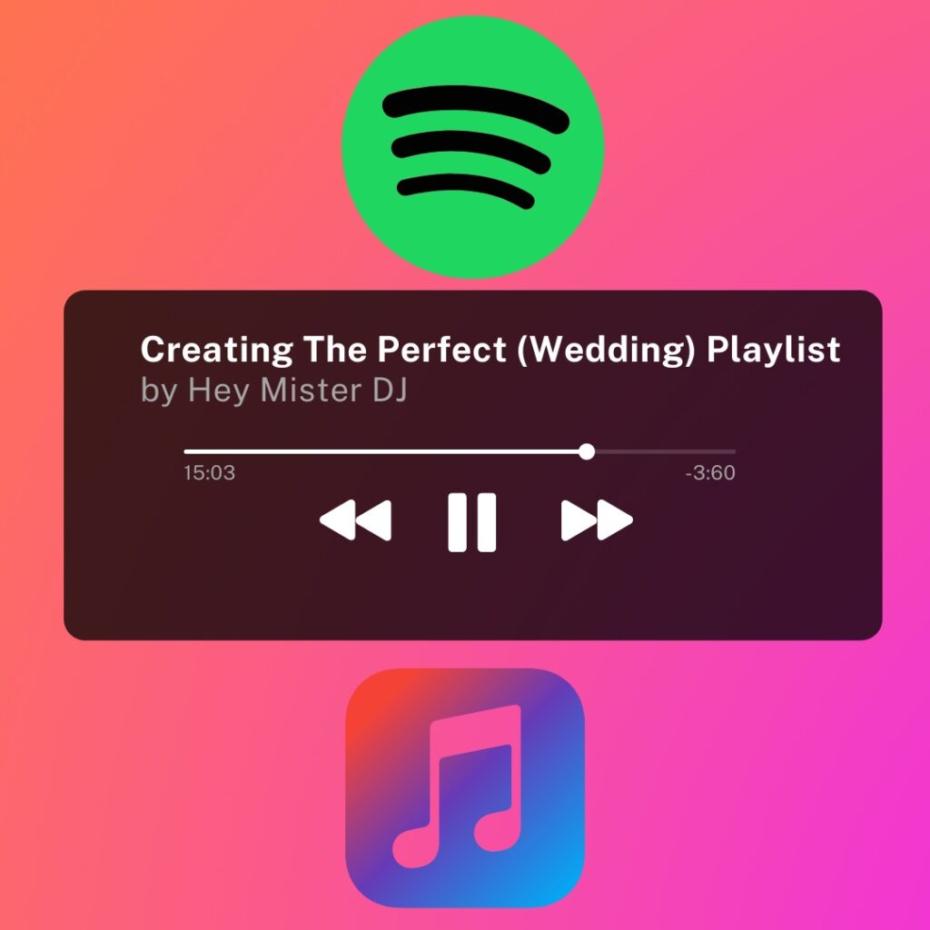 Create the perfect wedding playlist